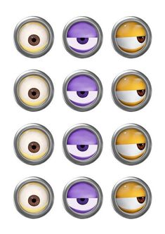 MINION - Minion Movie - Minion Eyes - Instant Download - Party Favor - Digital…