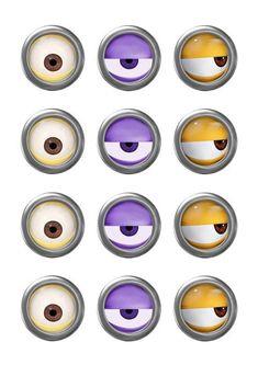 MINION - Minion Movie - Minion Eyes - Instant Download - Party Favor - Digital…