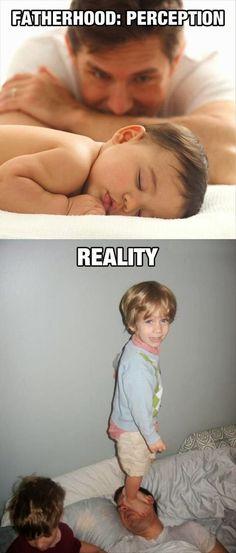 Funny Fatherhood Perception vs Reality