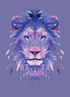 Royalty - Blue Art Print -  @Connie Hamon Hamon Hamon Brzowski Hamon Brzowski Rodeman - Mama - do you love this? Leo/purple=awesome
