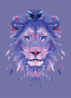 Royalty - Blue Art Print -  @Connie Hamon Hamon Hamon Brzowski Hamon Brzowski Rodeman - Mama - do you love this? Leo/purple=awesome