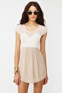 Nude + White Dress