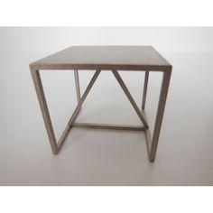 Strut Side Table in Champagne #miniatures #modern #sidetable #couchtable #livingroom #furniture #artisan #prdminiatures #unique #art #model #strutsidetable #dollhouse