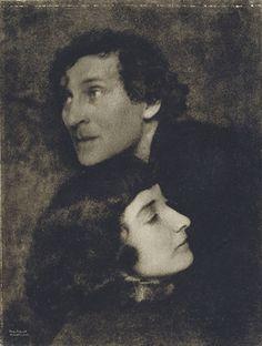 defrag:    Hugo Erfurth, Marc and Bella Chagall, 1923  via artnet.com