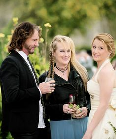 Rick Springfield, Meryl Streep and Mamie Gummer in a new Production Still from the upcoming movie Ricki And The Flash