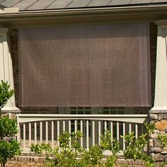 Red Barrel Studio Outdoor Cordless Sun Shade Color: Cabo Sand, Blind Size: x Porch Shades, Patio Sun Shades, Outdoor Sun Shade, Patio Shade, Pergola Shade, Blackout Roman Shades, Best Blinds, Adirondack Furniture, Solar Shades