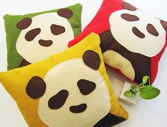 panda pillows! kids seem to like these little guys. you can find them on etsy.