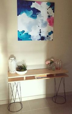 Very clever hall table hack Kmart Home, Kmart Decor, Kitchen Buffet, Home Bedroom, Bedroom Ideas, Create Space, Diy Furniture, Entryway Tables, Sweet Home