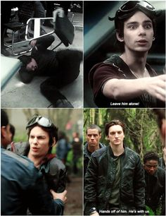 Delinquents protecting each other || Jasper Jordan and John Murphy || The 100 season 3 episode 13 - Join or Die and season 1 episode 1 - Pilot || Jurphy, Musper || Devon Bostick and Richard Harmon