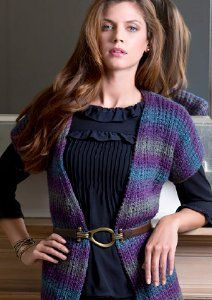 Free knitting pattern: Evening Allure Sweater by Heather Lodinsky for Red Heart