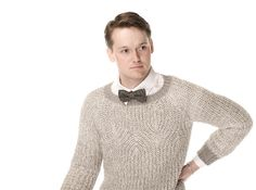 Technically, this is for men but I'd wear it. Silver Dream Men's Sweater pattern by Laura Zukaite