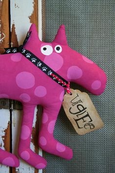 DoG MagenTa SmaLL by buttuglee on Etsy