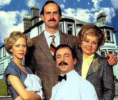 "Faulty Towers. I'm laughing just pinning this! John Cleese is one of my fave comedians. Basil and Sybil Faulty run a hotel, but sometimes the hotel runs them! Manuel is hilarious - ""Que?"" Fave show, ""The Germans"" - ""Don't mention the war. I mentioned it once but I think I got away with it!"" LOL"