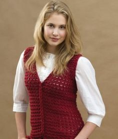 Free Crochet Vest Pattern Red Heart Yarns