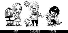 Smoker, Hina, Tashigi