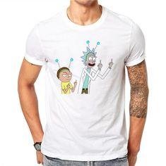 2232066e2 Cotton Rick and Morty Despise Print Men Summer Tops Tees O-neck Short  Sleeve T
