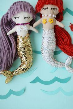 Download Mermaid Plush Dolls Sewing Pattern (FREE)