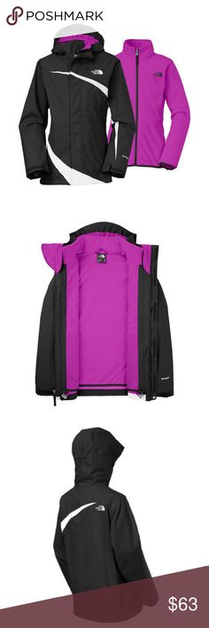 🆕 Girls' North Face 3-in-1 Jacket New with tag!...versatile 3-in-1 barrier for uncertain weather and adventurous girls...North Face Mountain View Triclimate Jacket features a waterproof, breathable shell and removable fleece jacket for lightweight warmth...wear together or separately depending on weather conditions...hand pockets...75D polyester backed by waterproof, breathable HyVent coating...shell lined with polyester for easy layering...Fixed hood...Adjustable drawcord system at…