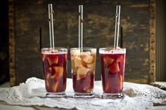 Hawaiian Wine Coolers with Frozen Pineapple Slices