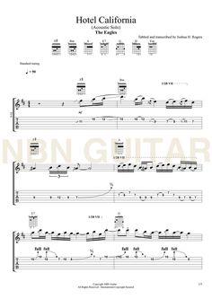 Hotel California 'Acoustic Solo' Online Acoustic Guitar Lesson — NBN Guitar