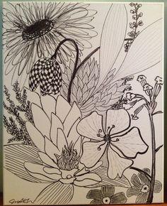 Black and White Flowers   www.ARTbyJSP.com Black And White Flowers, Art, Art Background, Kunst, Gcse Art, Art Education Resources, Artworks