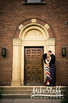 wedding shot in the doorway of the church
