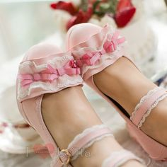 Home from lolita store Kawaii Shoes, High Heels, Shoes Heels, Lace Bows, Sandals, Accessories, Princess, Colors, Fashion