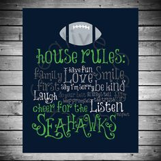 Seattle+Seahawks+House+Rules++8x10+INSTANT+by+CreativeCardstock,+$10.00