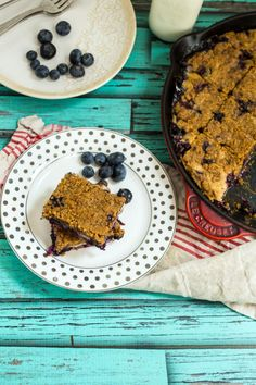 Blueberry Bourbon Buckle is great for brunch or dessert. Either way, you'll be thrilled.