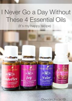 "Daily Oil Regimen - EndoFlex, Joy, Valor, and Progessence Plus by Young Living. |Please ""LIKE"" me on Facebook: https://www.facebook.com/EOAdventureswithBecky ~~ Need to purchase oils? You can find out more information at https://www.youngliving.com/signup/?sponsorid=2385830&enrollerid=2385830 ~~"