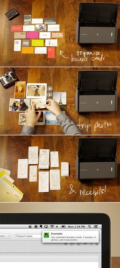 Cleanup the paper! Move your papers into the digital land! #homeorganization #homeoffice http://www.designlovefest.com/2013/12/lets-get-organized-evernote/