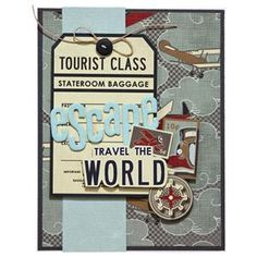 Imaginisce Bon Voyage Collection - Travel the World Card