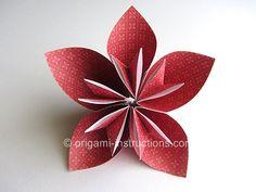 Easy Origami Kusudama Flower