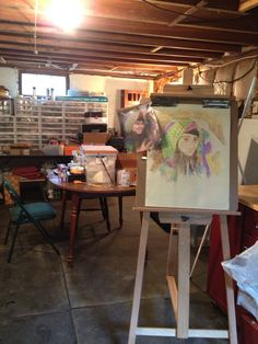 New England house ...Basement Art studio