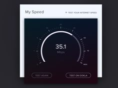 Speed Test UI & Visual Design by Sophia Pang