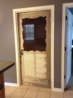 Laundry room door. I love this idea.