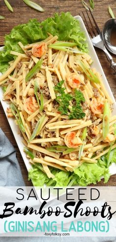 Try this healthy and delicious Sauteed Bamboo Shoots recipe. Low in calorie and rich in dietary fiber and a good source of vitamins and minerals. Healty Dinner, Dinner Entrees, Healthy Dinner Recipes, Side Dish Recipes, Vegetable Recipes, Asian Recipes, Ethnic Recipes, Easy Recipes, Pinoy Food