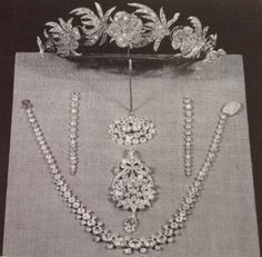 the Sitwell Family Diamonds Exhibited in the 1930's - unusual floral tiara