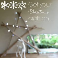 christmas crafting with fairy lights