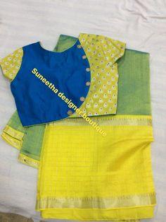 blouse saree Saree blouseYou can find Designer saree blouse patterns and more on our website Pattu Saree Blouse Designs, Simple Blouse Designs, Stylish Blouse Design, Fancy Blouse Designs, Saree Blouse Models, Cotton Saree Blouse, Saree Blouse Patterns, Lehenga Blouse, Kurta Neck Design