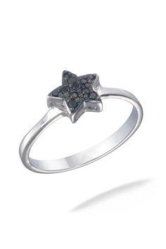 Vir Jewels 0.1Ct. Black Diamond Ring In Sterling Silver - Beyond the Rack