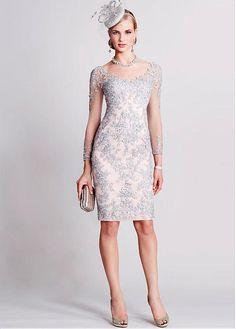 14d718118b Wonderful Tulle V-neck Neckline Knee-length Sheath Mother Of The Bride  Dresses With