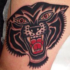 Ben Rorke - Brisbane, Australia Traditional tiger tattoo
