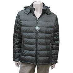 $44.99 Men's down filled winter jacket in black or navy Man Down, Men's Clothing, Winter Jackets, Navy, Clothes, Accessories, Black, Fashion, Moda