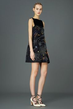 Pin for Later: Valentino's Latest Collection Is Begging to Be Worn by Space Geeks The best part of this flirty dress? Planetary whimsy.