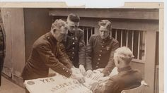 Handout/From the collection of the Talking Board Historical Society Marines play Ouija in 1921.