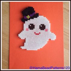 Hama Bead Kawaii Ghost by HamaBeadPatterns123