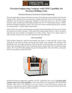 Precision Engineering Industry with EDM Capability for Precision Drilling Tasks
