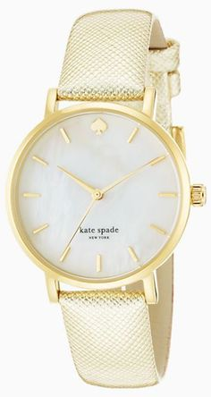 metallic #gold Kate Spade watch http://rstyle.me/n/nb4udr9te
