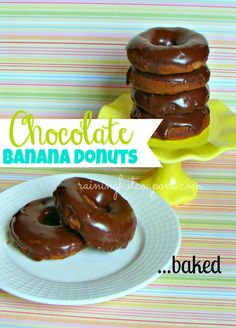 BEST DONUTS EVER!!! Baked Chocolate Banana Donuts with Chocolate Glaze